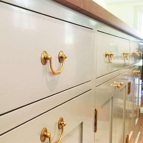 Millwork and custom wood finishing for kitchen remodeling and other home renovation projects